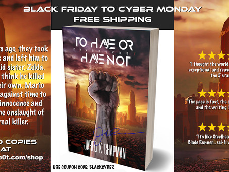 Free Shipping on Signed Copies through Cyber Monday!