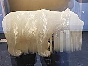 ours 3d en cours d'impression