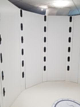 Intérieur du body scanner
