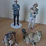 Groupe de figurines 3D