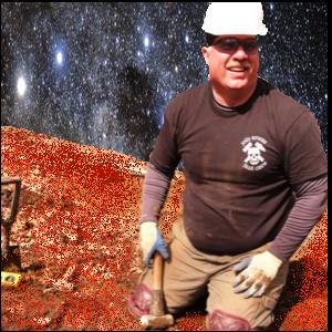 Crew Member, Bob Ricci, conducts work in Mars simulator