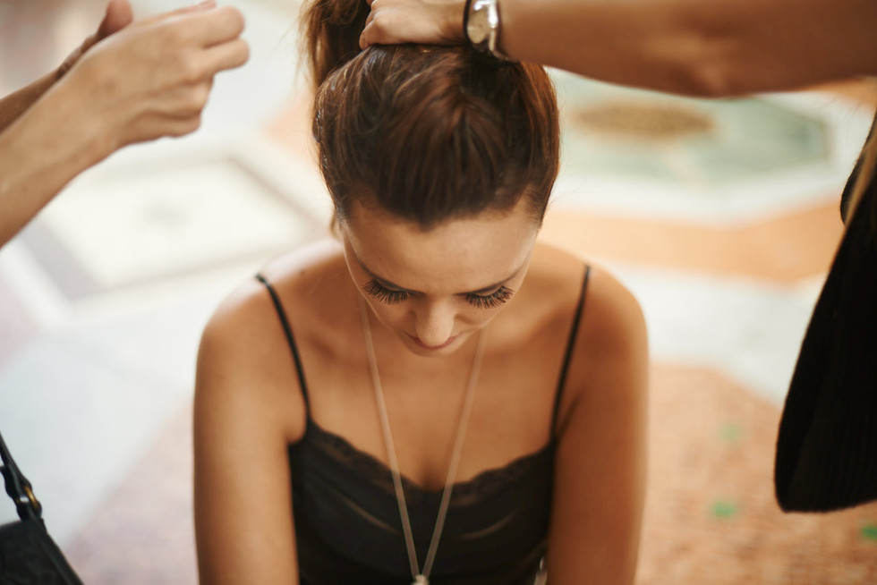 Backstage of on location shoot - Milan Italy