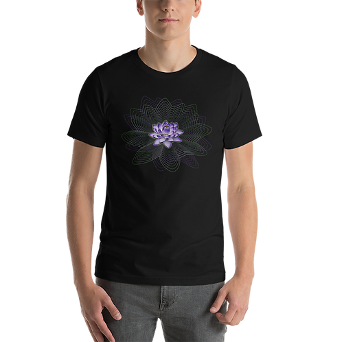 Lotus-Blossom-Wave-Pattern-Short-Sleeve Unisex T-Shirt