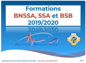 Présentation de la saison BNSSA, BSB et SSA 2019/2020
