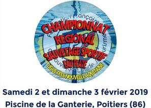 Championnat régional Nouvelle Aquitaine de Sauvetage Sportif 'Eau Plate' 2019