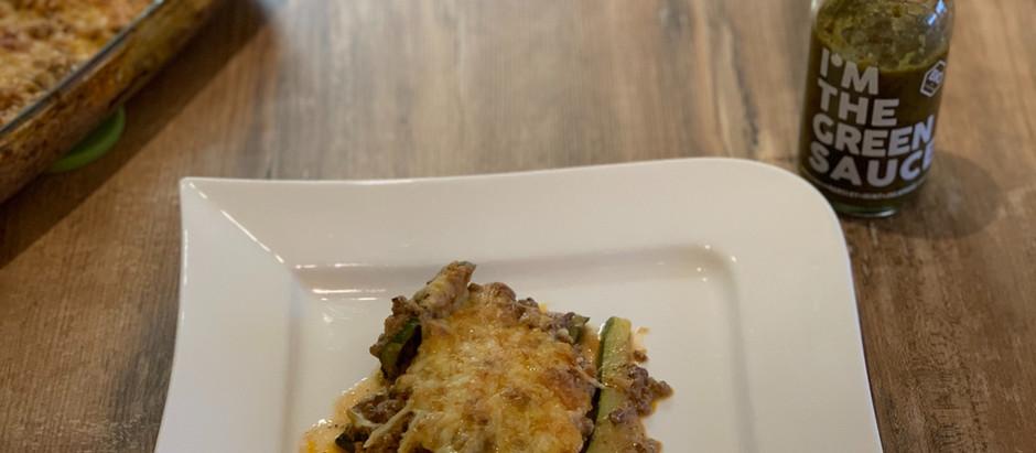 Low Carb Lasagne mit Green Sauce - Rezept von MARION MENZEL -