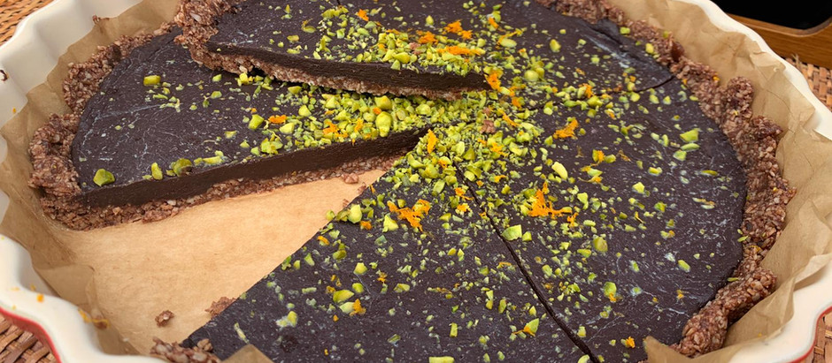 Purple Kakao Tarte (vegan) - Rezept von NOU NOU -
