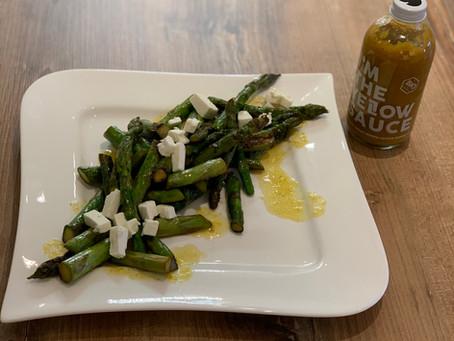 Lauwarmer Spargelsalat mit Feta - Rezept von MARION MENZEL -
