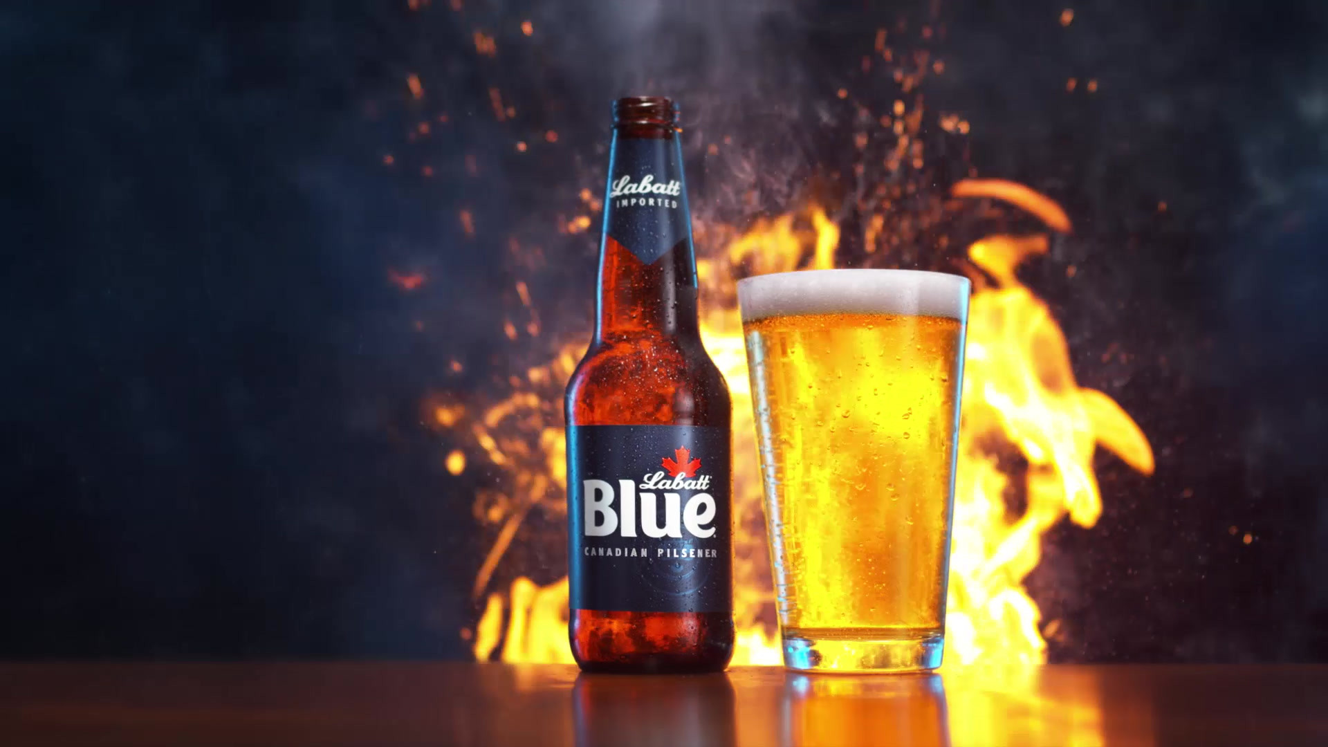 Fire. Smoke. Beer. Totally uninteresting shoot.