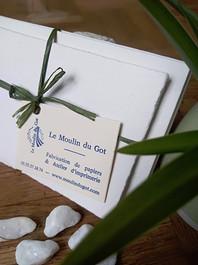 Cartes de visite et enveloppes fabriquées à la main