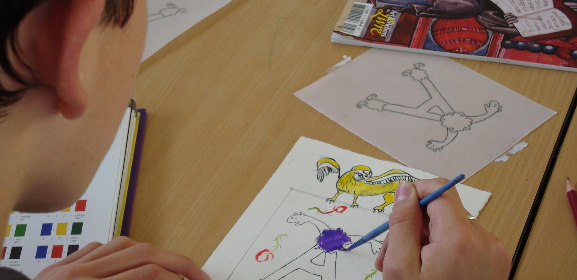 Atelier lettrine médiévale (enfant)