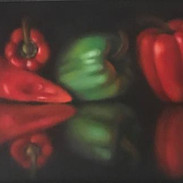 Still Life with Peppers by Kathy Arent