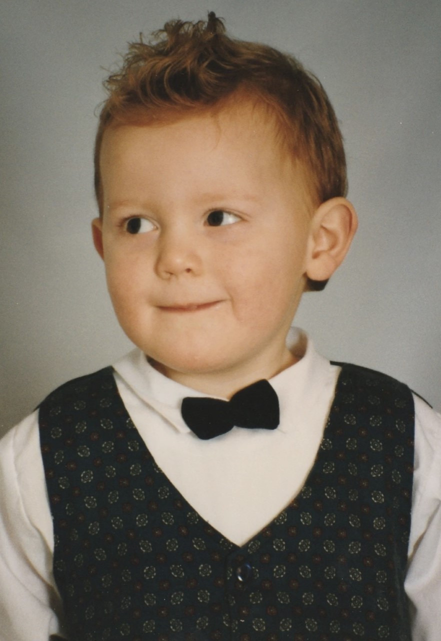 Ross as a young child