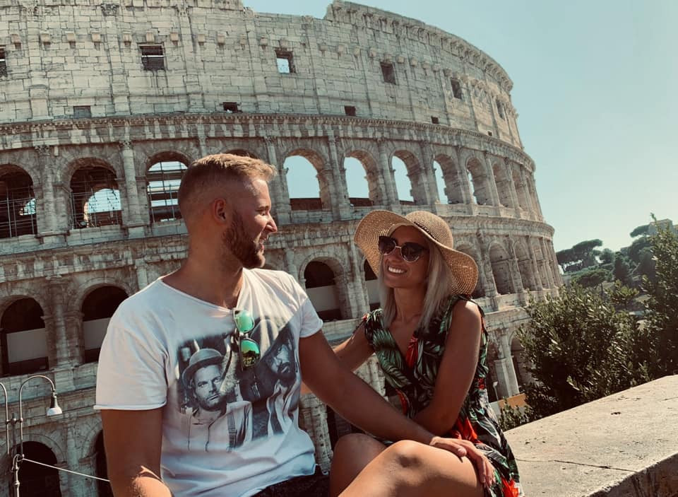 Nicole and her boyfriend together in Rome