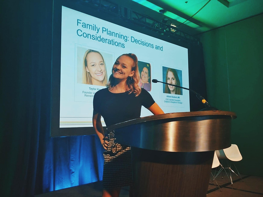 Taylor at family planning conference