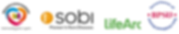 Sponsor logos, Breaking Down Barriers, SOBI, Life ARC and BPSU