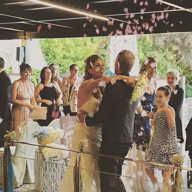 Otra de nuestras parejas de este finde!! Felicidades chicos😍#eventos #boda #bodas2017 #ceremonia #p