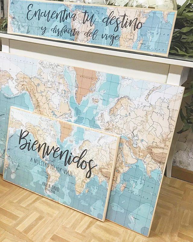 Más detalles para los novios viajeros, esta vez con el diseño de los carteles!! Ya lo tenemos todo p