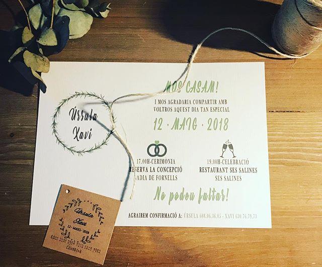 Hoy he terminado y entregado las invitaciones de Úrsula y Xavi, que se casan el próximo mes de Mayo