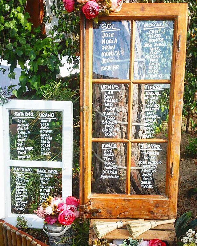 Seating plan con ventanas de madera, para la boda de M&F!! ¿Os gusta_ A mi personalmente me encantó