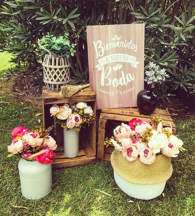 Bienvenidos a la boda de I&P!! Rinconcitos bonitos para recibir  a todos sus invitados 😍#eventos #b