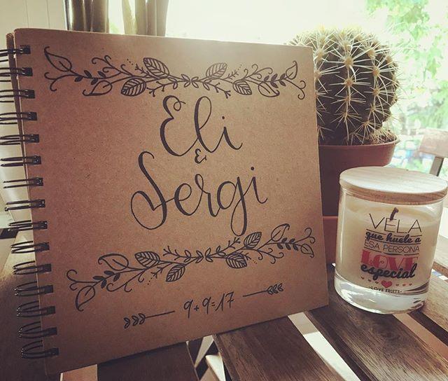 Libro de firmas de _amatlettering para una de nuestras parejas de este finde!! #eventos #boda #bodas