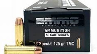 Ammo Inc. .38 special 125 gr. 50 rounds
