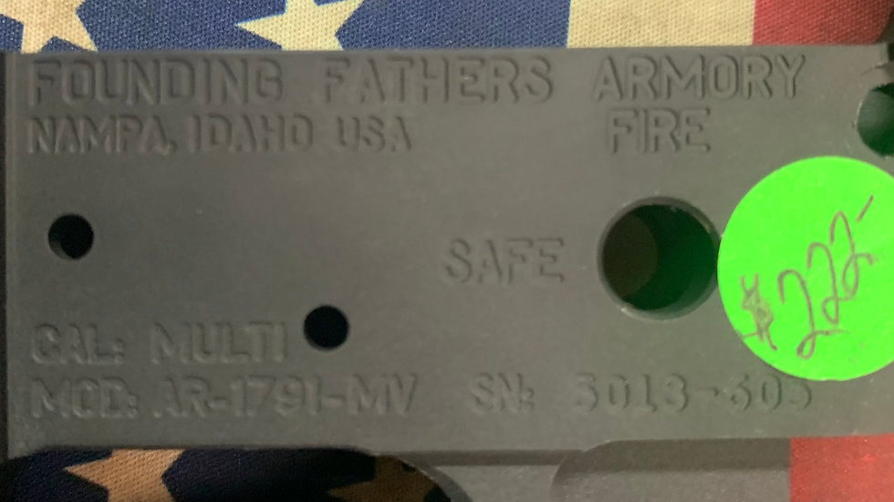 Founding Fathers AR-1791-MV Lower Receiver