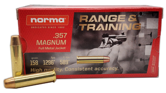 Norma 357magnum 158 grain 50 rounds New Brass