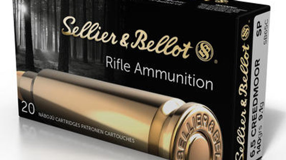 6.5mm Creedmoor Ammo by Sellier & Bellot - 140gr 20 rds