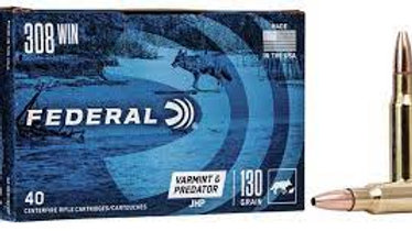 Federal 308 win JHP  130 grain 40 rounds