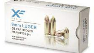 X Force 9mm 124 grain 50 rounds