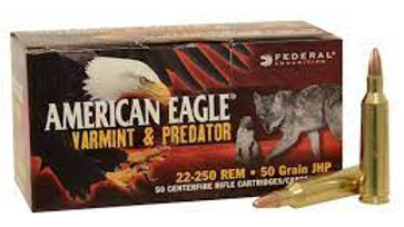 22-250 rem 50 grain federal american eagle 50 rounds