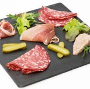Charcuterie platter for savory tastings