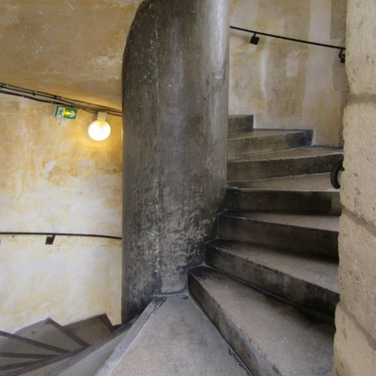 Spiral staircase leading to the battlements