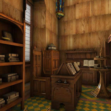 Simulation of the King's private study