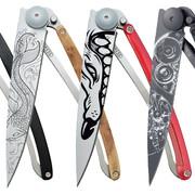 Custom engraved folding knives