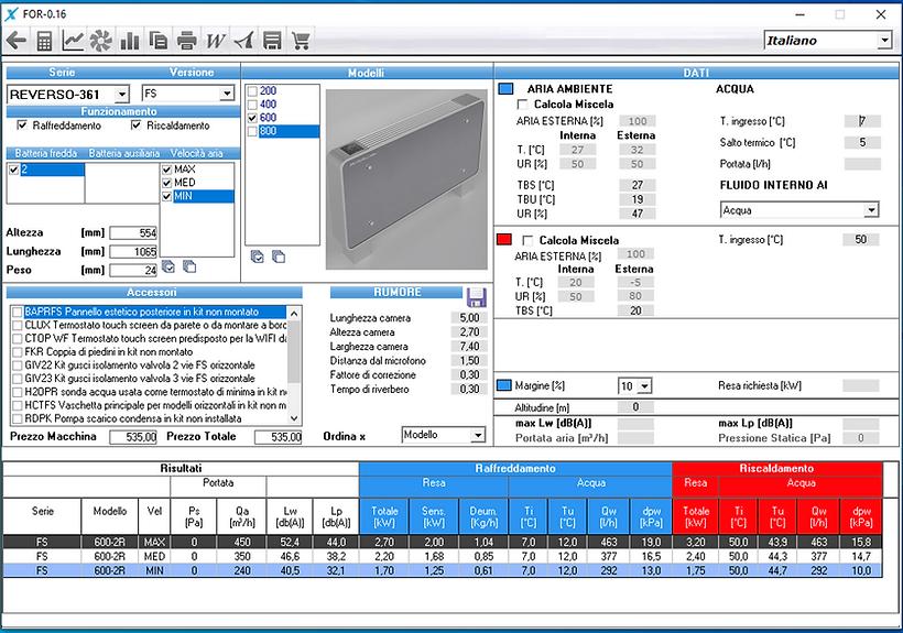 Software di selezione prodotti Reverso.p