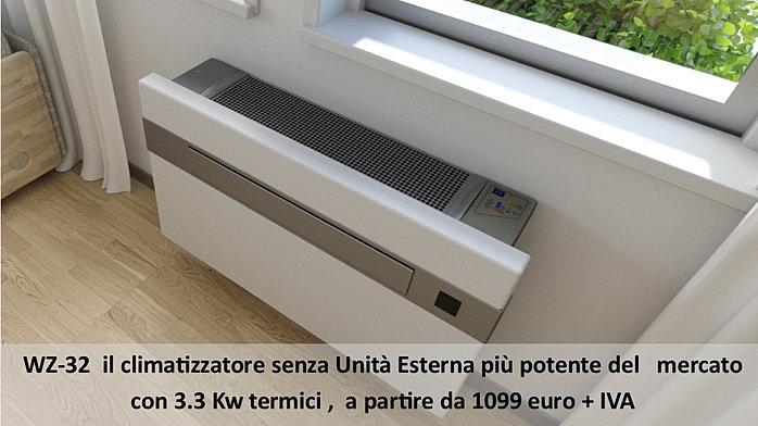 Condizionatori senza unit esterna condizionatore senza for Condizionatori senza motore esterno