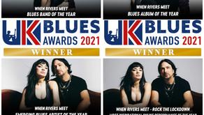 NEWS: WHEN RIVERS MEET WIN 4 AWARDS AT UK BLUES AWARDS 2021