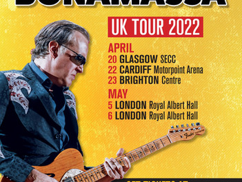 NEWS: JOE BONAMASSA ANNOUNCES APRIL AND MAY 2022 UK DATES