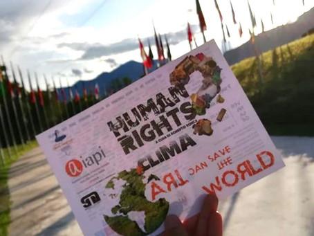 EXPOSICIÓN EN ITALIA:HUMAN RIGHTS#CLIMA