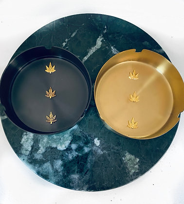 Duo GELATO ashtray GOLD & BLACK