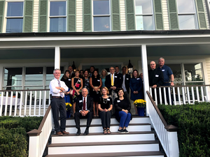 Trustees and Friends gathered to celebrate the opening of Tri-County's new office at 14 West Main St. in Mendham in early September.