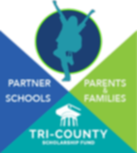 Tri-County Infographic: the relationship between TCSF, Schools, and families to help students