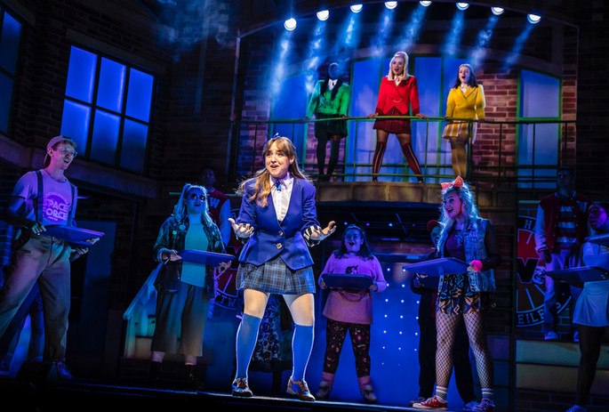 Rebecca Wickes (Veronica) & the cast of Heathers The Musical - UK Tour 2021 - Photos by Pa