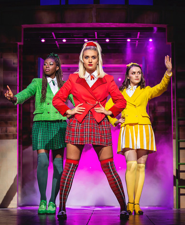 L-R Merryl Ansah, Maddison Firth & Lizzie Parker - Heathers UK Tour 2021 - Photos by Pamel