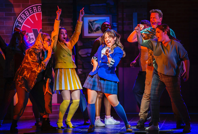 Rebecca Wickes & the cast of Heathers The Musical - UK Tour 2021 - Photos by Pamela Raith
