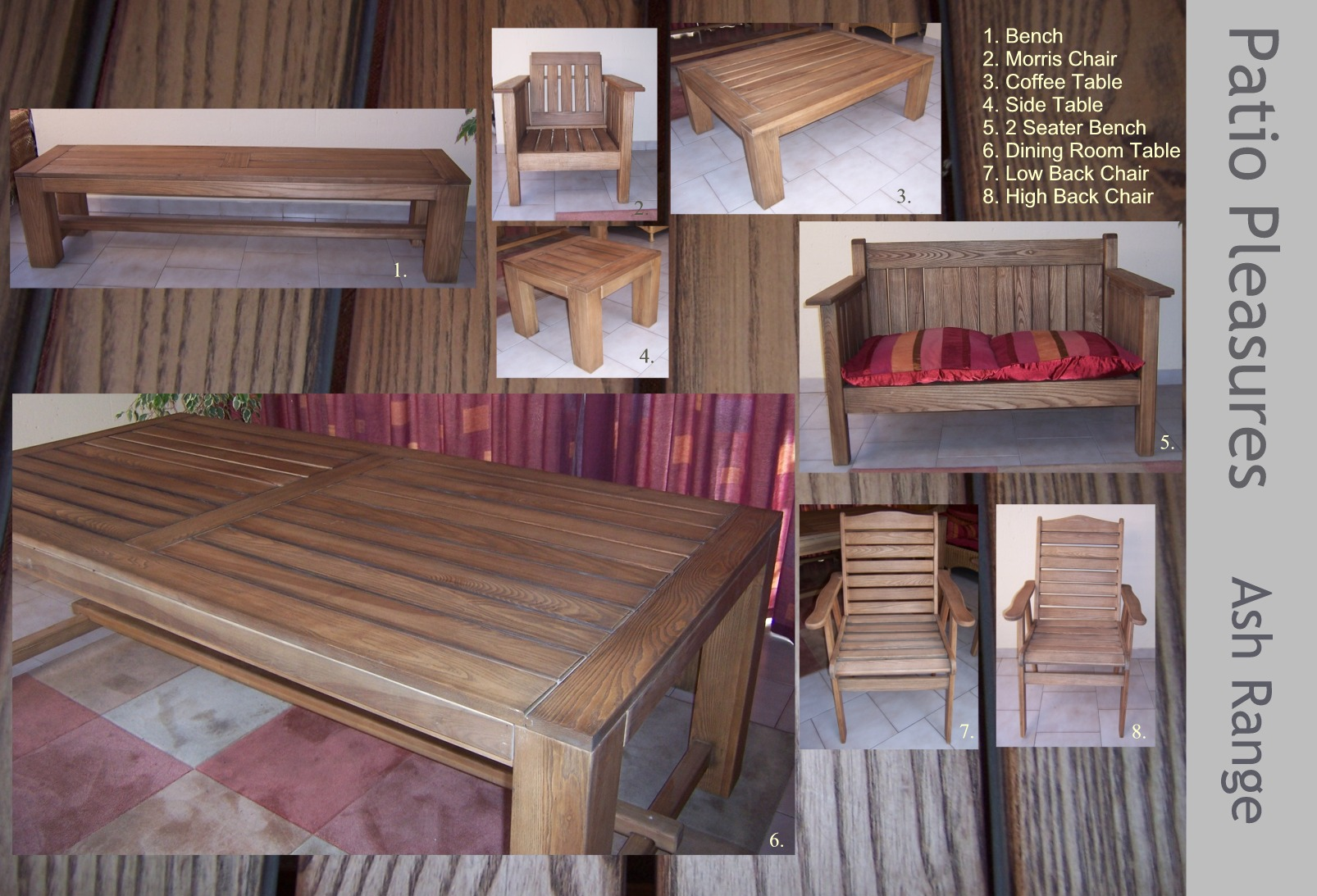 PATIO PLEASURE -ASH FURNITURE