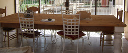BESPOKE DININGROOM TABLE DISTRESSED LEG.JPG